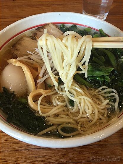 マルイチラーメン 中華そば醤油 麺
